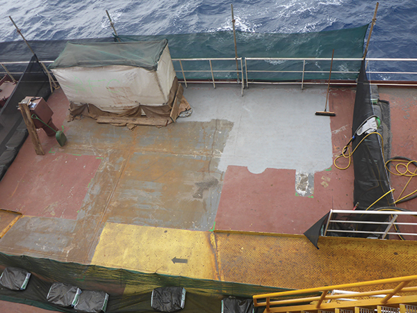 offshore coating uhp waterjetting