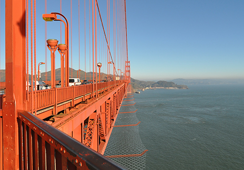 Artist's rendering, Golden Gate suicide barrier