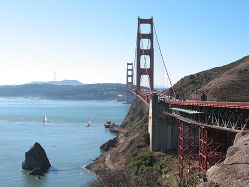 Golden Gate Bridge rendering