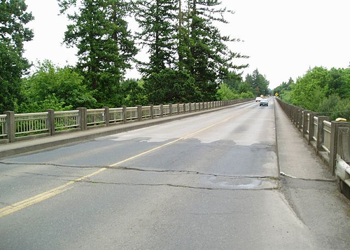 Structurally deficient bridge