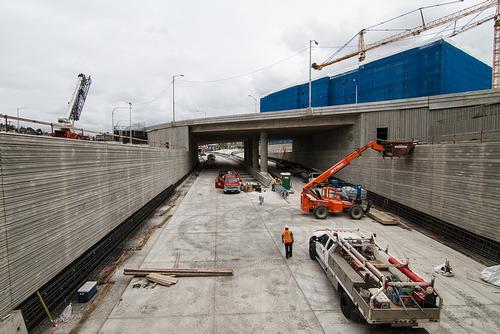 SR99 construction, Seattle