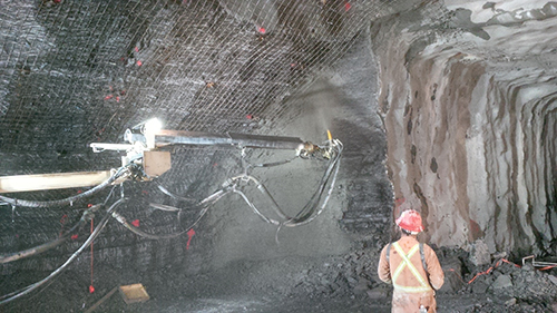 Shotcrete operations