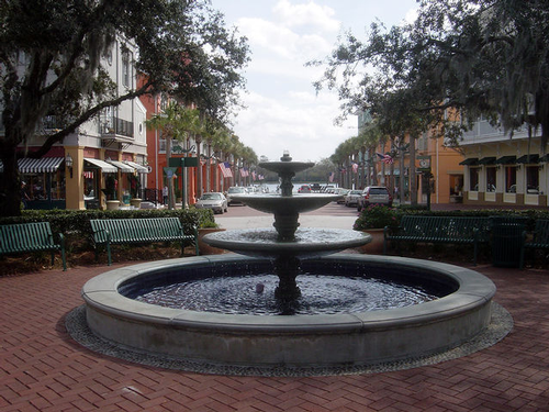 Celebration FL fountain