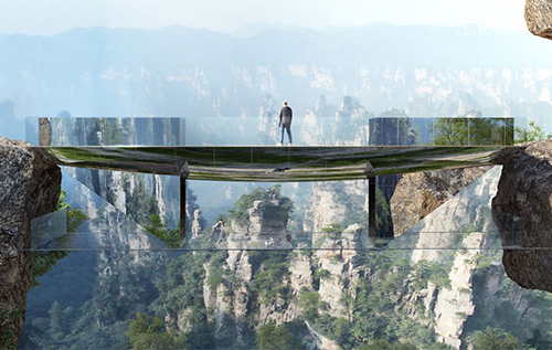 China glass bridge trio