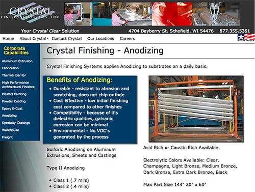 Crystal Finishing anodizing