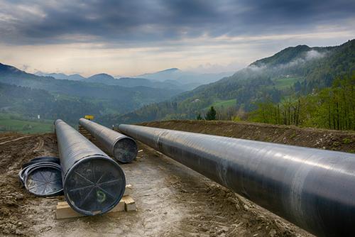 pipeline under construction