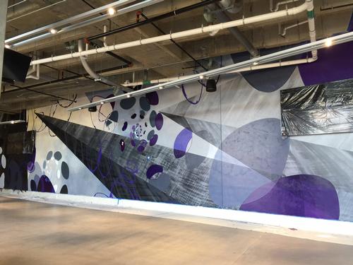 US Bank Stadium mural
