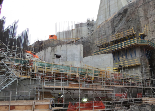 Muskrat Falls hydroelectric plant under construction