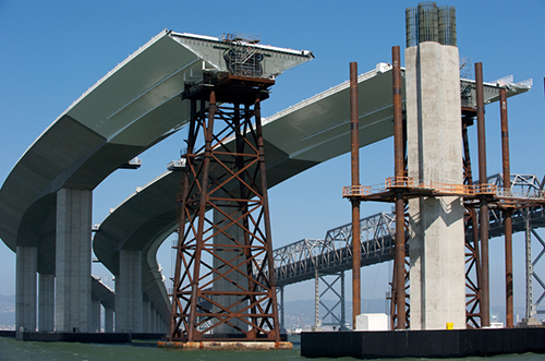 Construction of New Bay Bridge