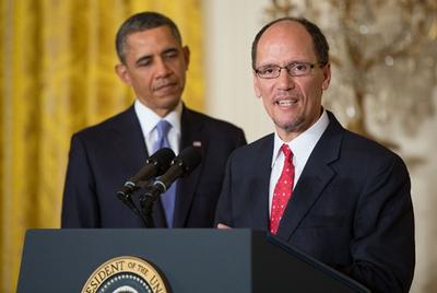 Obama with Thomas Perez