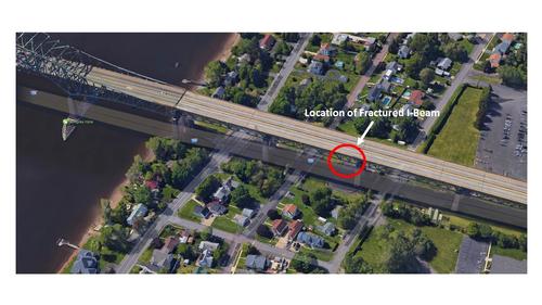Location of bridge crack