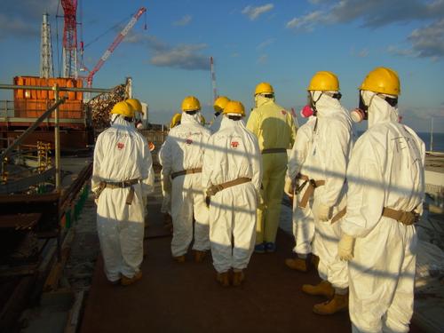 NRC officials at Fukushima