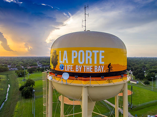 La Porte Fairmont Park Elevated Water Tower