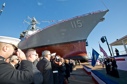 USS Rafael Peralta christening