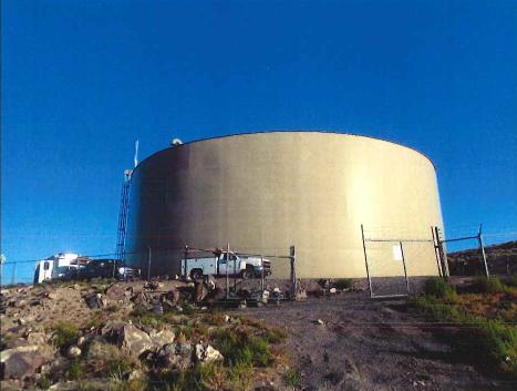 Fernley water storage tank