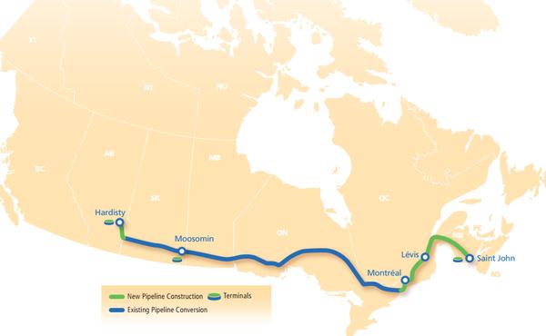Energy East map