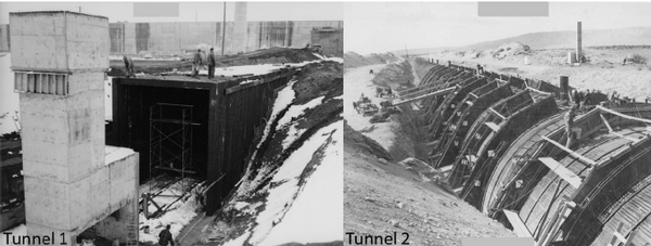 Hanford tunnels construction