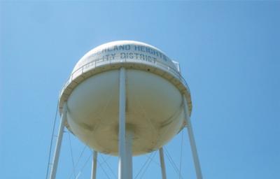Hilltop water tank