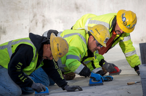 Oroville dam workers