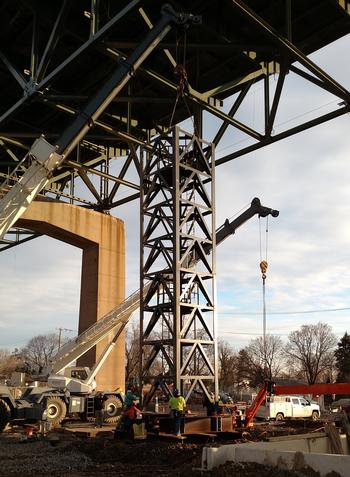 Delaware River Bridge jacking towers