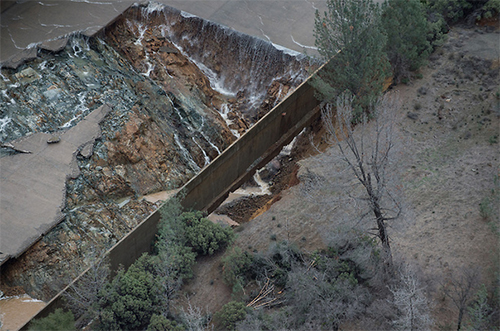 Oroville spillway damage