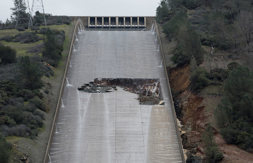 Oroville damage