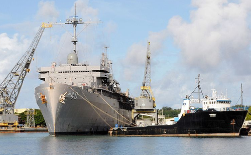 Naval ships at Guam Shipyard, 2010