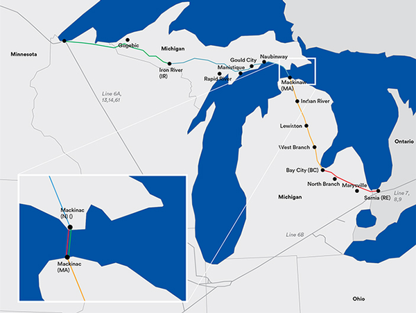 Line 5 Map
