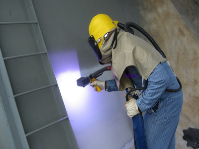 Inspecting thermal spray coating