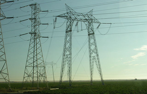 Transmission towers in California