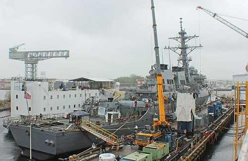 Naval ship at BAE Norfolk