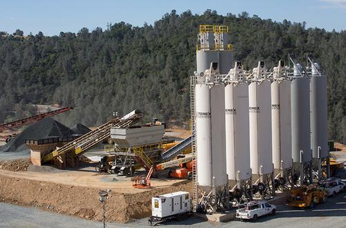 Oroville site concrete plant