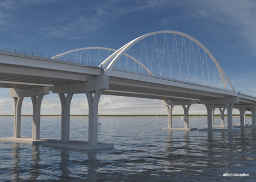 Pensacola Bay Bridge rendering
