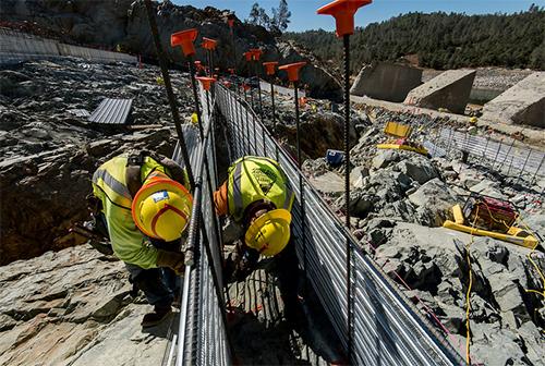 Repairs at Oroville Dam