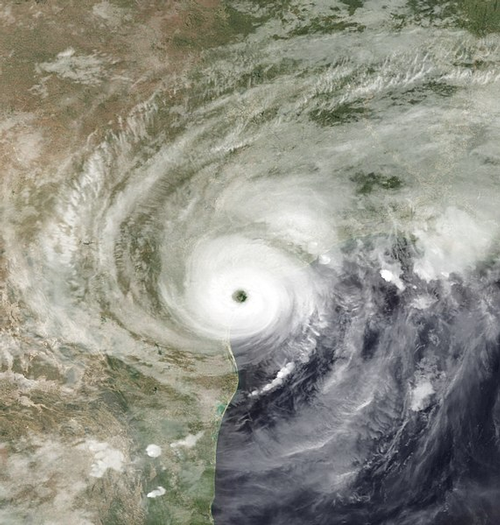 Hurricane Harvey satellite image
