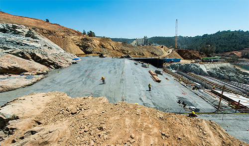 Roller compacted concrete at Oroville