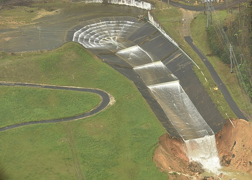 Guajataca Dam damage