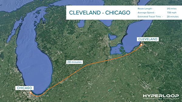 Hyperloop proposed route