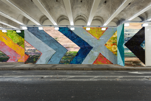 Vehicular tunnel mural