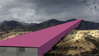 Border Wall Goes Pink