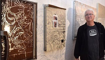 Artist Uses Refrigerator Doors as Canvasses