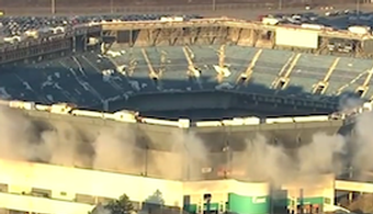 MI Silverdome Implodes After Second Attempt