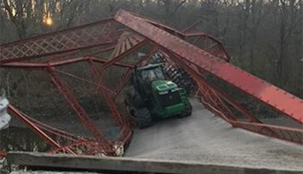 Tractors Threaten Bridges in IN County