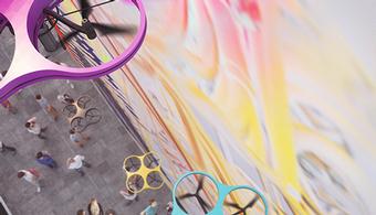 Graffiti Takes Flight Via Drone