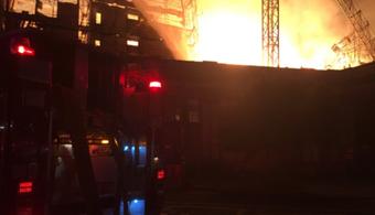 Fire Again Ravages CA Construction Site