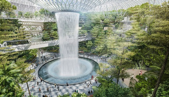 World's Tallest Waterfall to Hit Singapore Airport