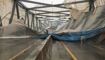 Tarp Mishap Shuts Down SC Interstate Bridge