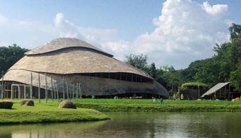 Thailand Sports Hall Made Entirely of Bamboo