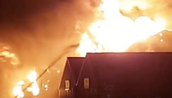 Fire Destroys London Paint Manufacturer Building