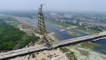 Delhi's New Bridge Attracts Dangerous Behavior